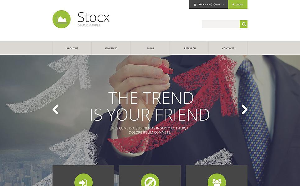 Адаптивний Шаблон сайту на тему інвестиції New Screenshots BIG