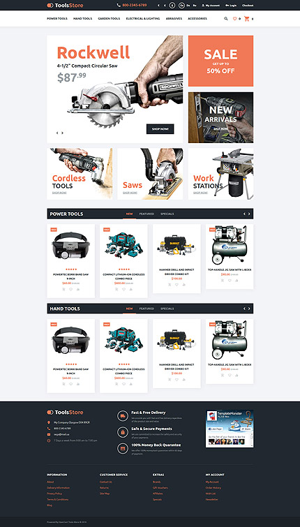 ADOBE Photoshop Template 57634 Home Page Screenshot