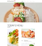 Cafe & Restaurant Website  Template 57641