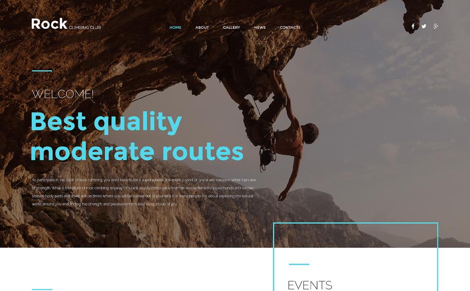 Responzivní Šablona webových stránek na téma Horolezectví New Screenshots BIG