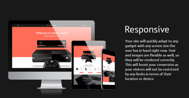 Playstation Consoles Website Template