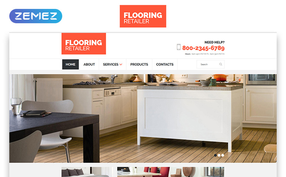 Responsive Website Vorlage für Bodenbelag  New Screenshots BIG