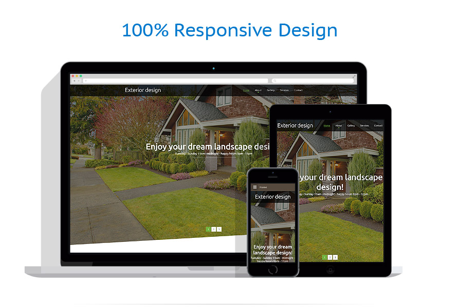 Exterior design website template 57651 for Exterior design website templates