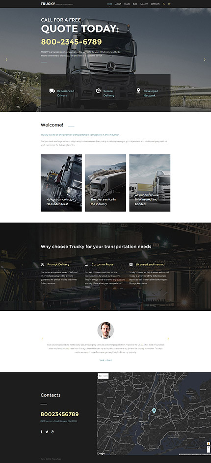 Joomla Theme/Template 57653 Main Page Screenshot