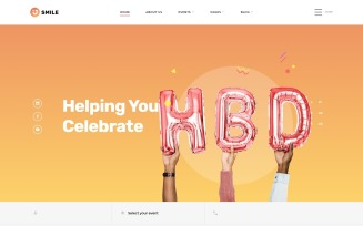 Smile - Event Planner Clean Multipage HTML5 Website Template