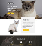 Animals & Pets Landing Page  Template 57676