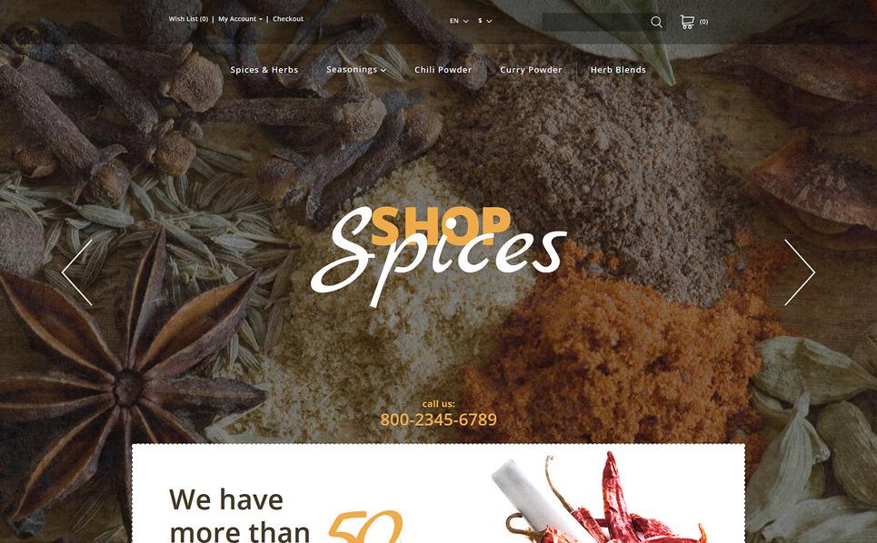 Template OpenCart  Flexível para Sites de Loja de especiarias №57681 New Screenshots BIG