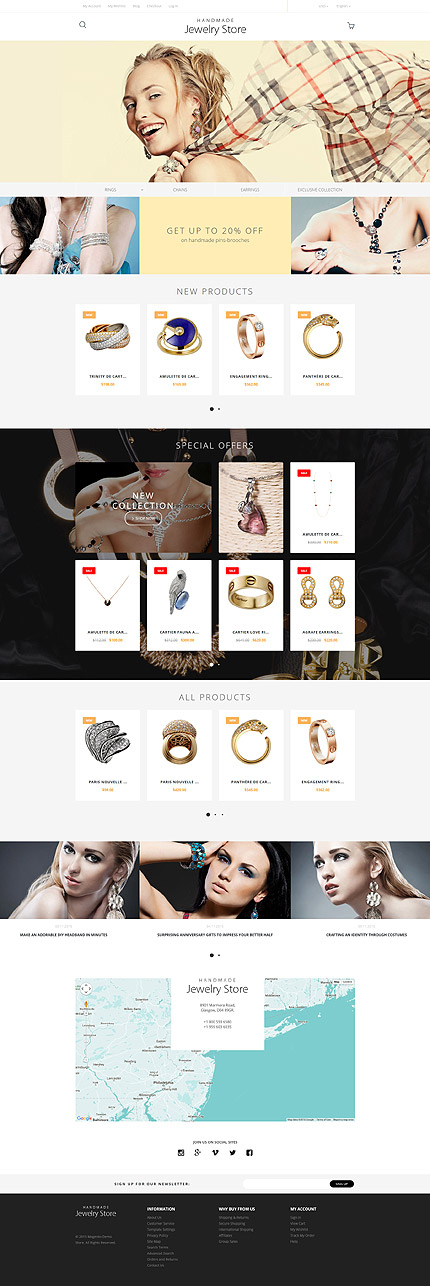 Magento Theme/Template 57684 Main Page Screenshot
