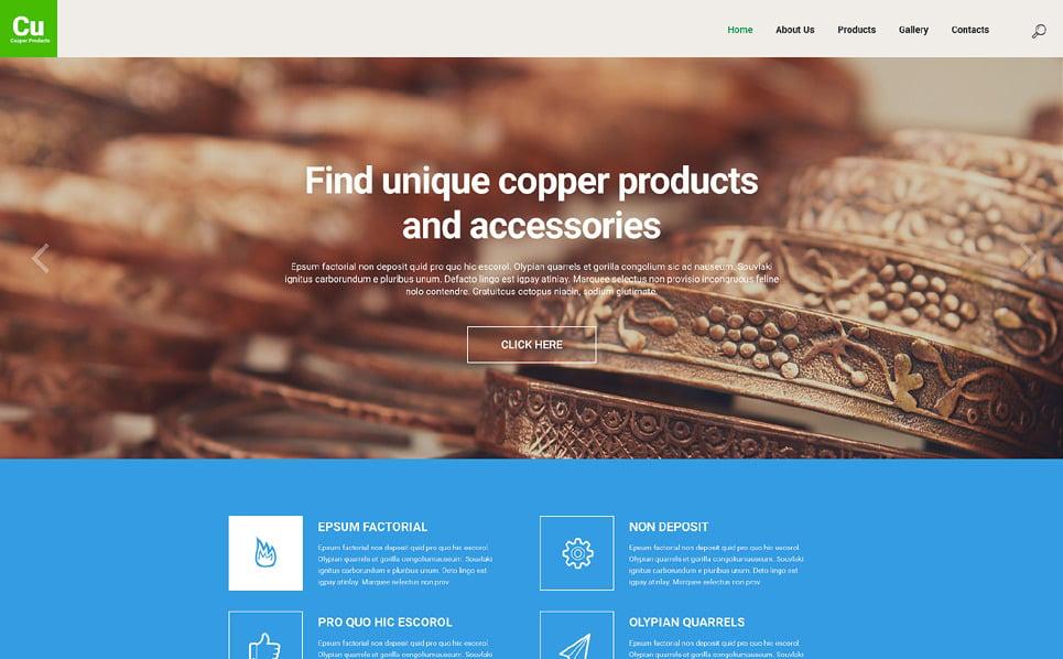 Responsive Website template over Industriele New Screenshots BIG