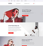 Fashion Website  Template 57697