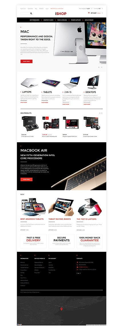 Magento Theme/Template 57699 Main Page Screenshot