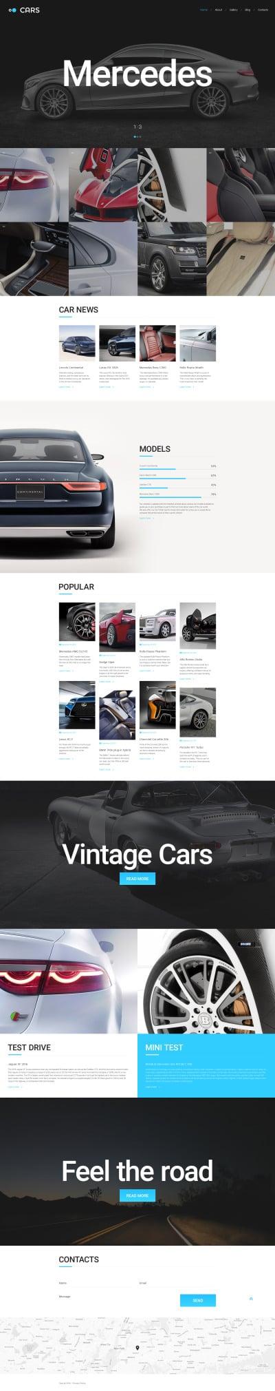 Адаптивный HTML шаблон №57615 на тему автомобиль