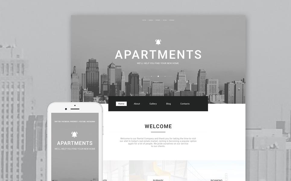 Адаптивный шаблон сайта на тему агентство недвижимости #57617