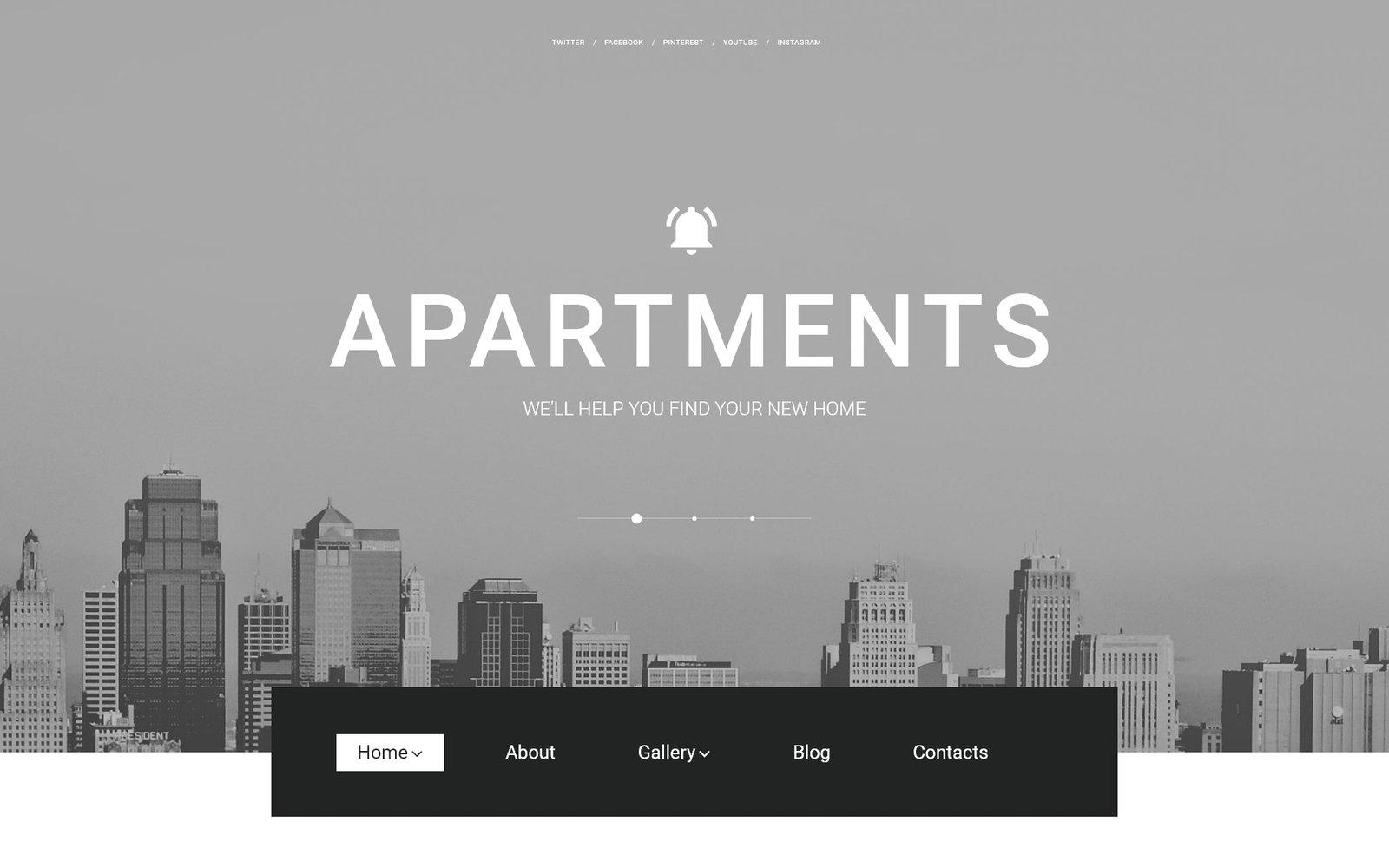 Адаптивный WordPress шаблон №57617 на тему агентство недвижимости