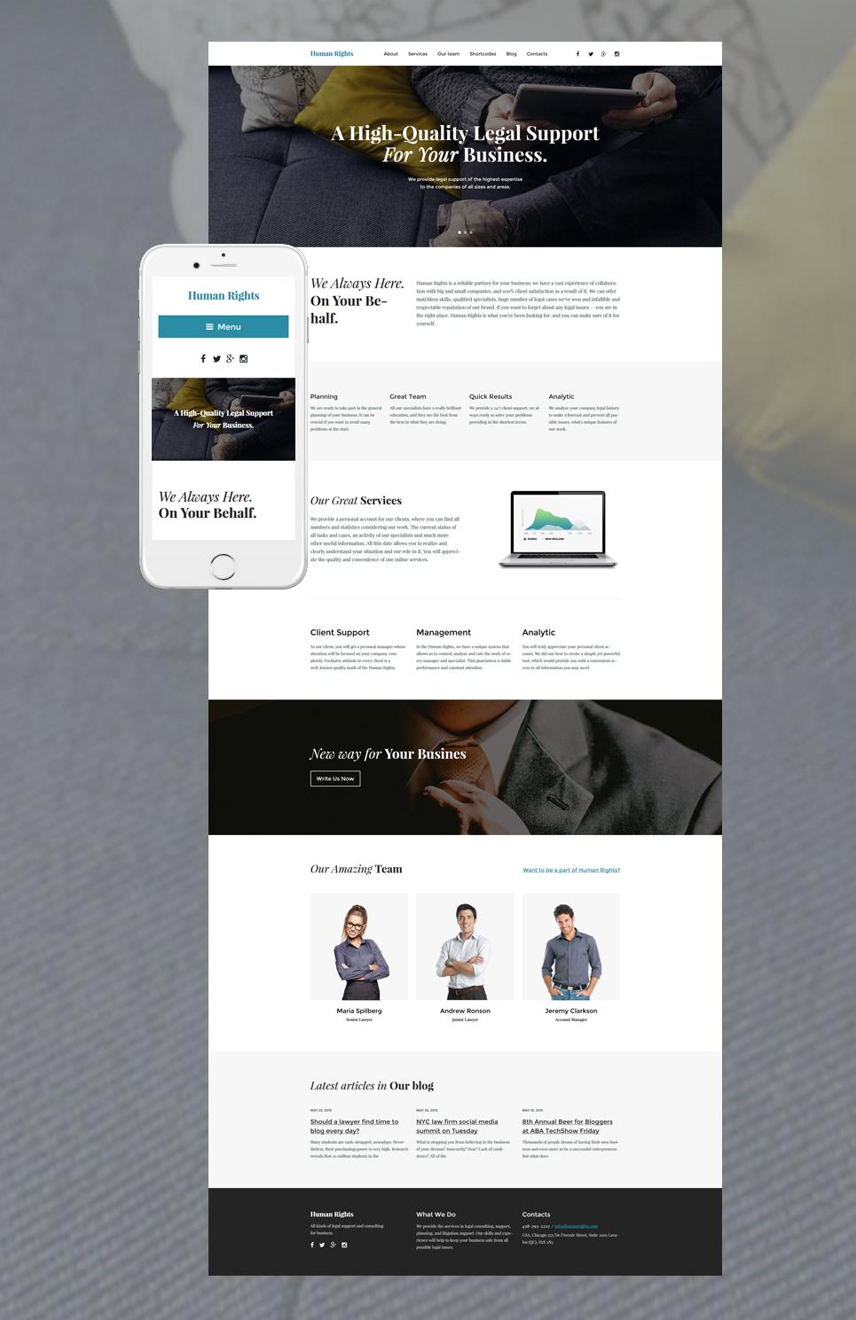 Адаптивный шаблон сайта на тему бизнес и услуги #57687