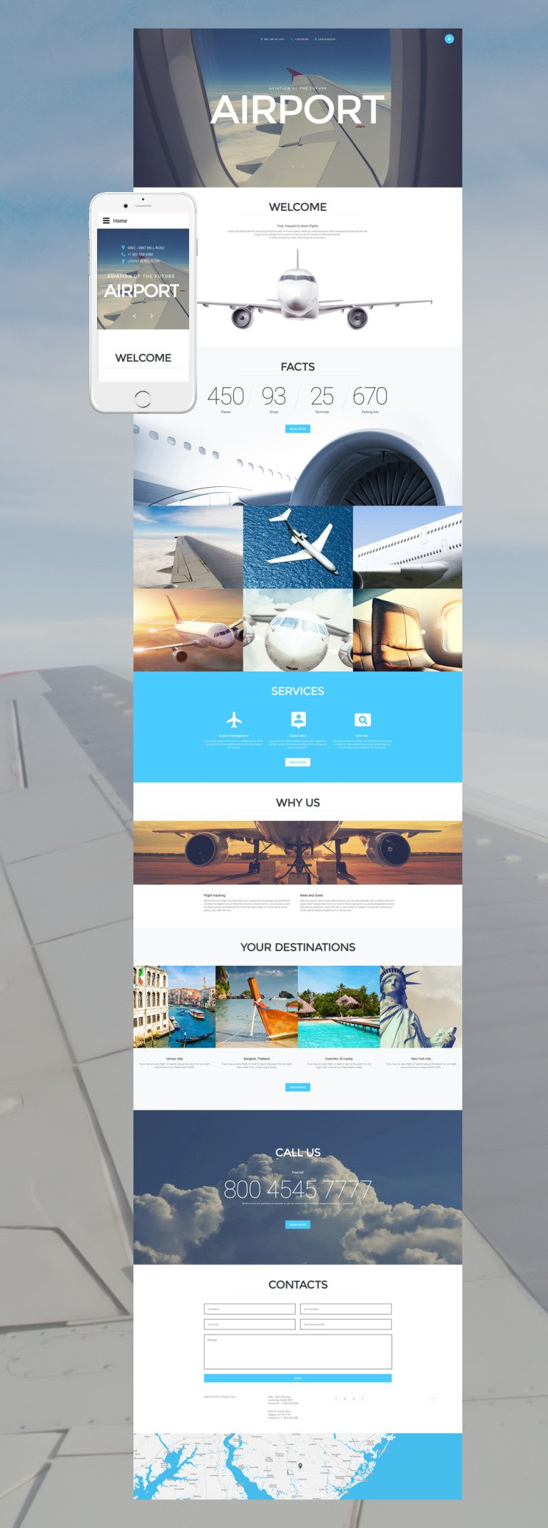 Airport Joomla Template New Screenshots BIG
