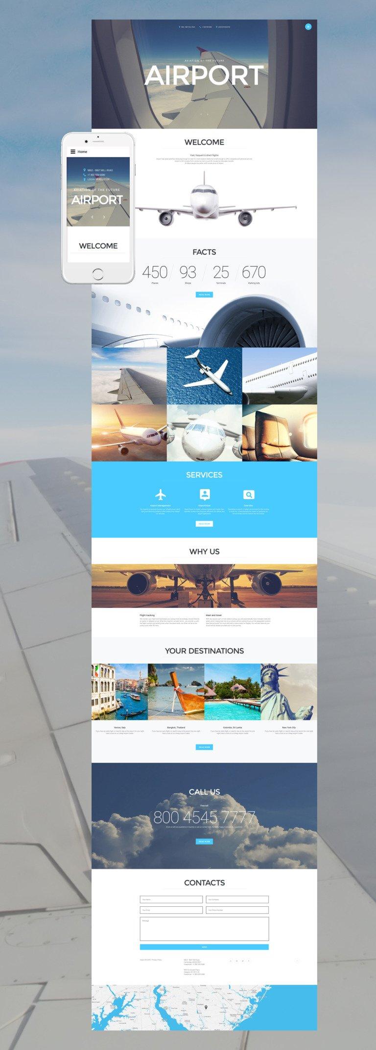 Airport Joomla Template New Screenshots BIG
