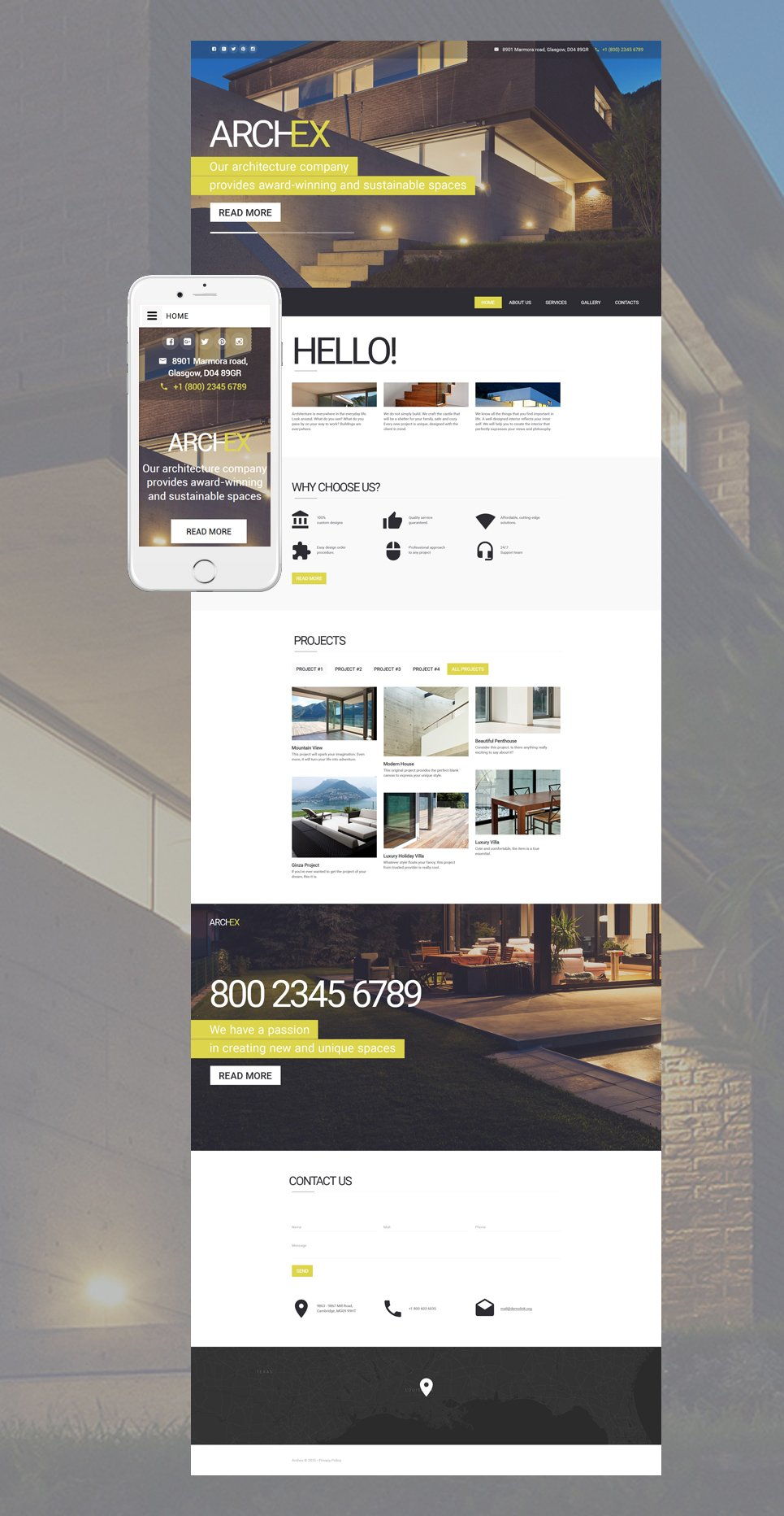 Demo Preview for Architecture Responsive Website Template #57603