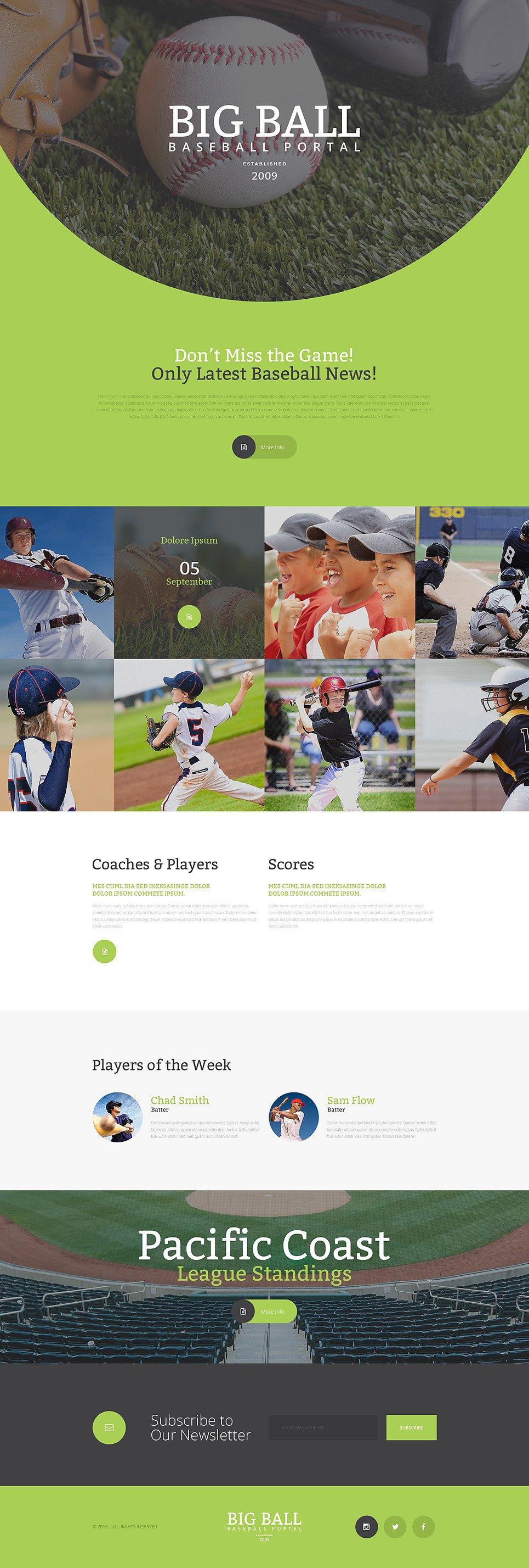 Baseball Responsive Landing Page Template New Screenshots BIG