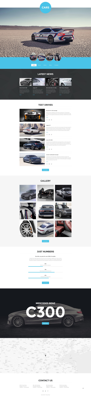 Bootstrap szablon strony www #57640 na temat: klub motoryzacyjny