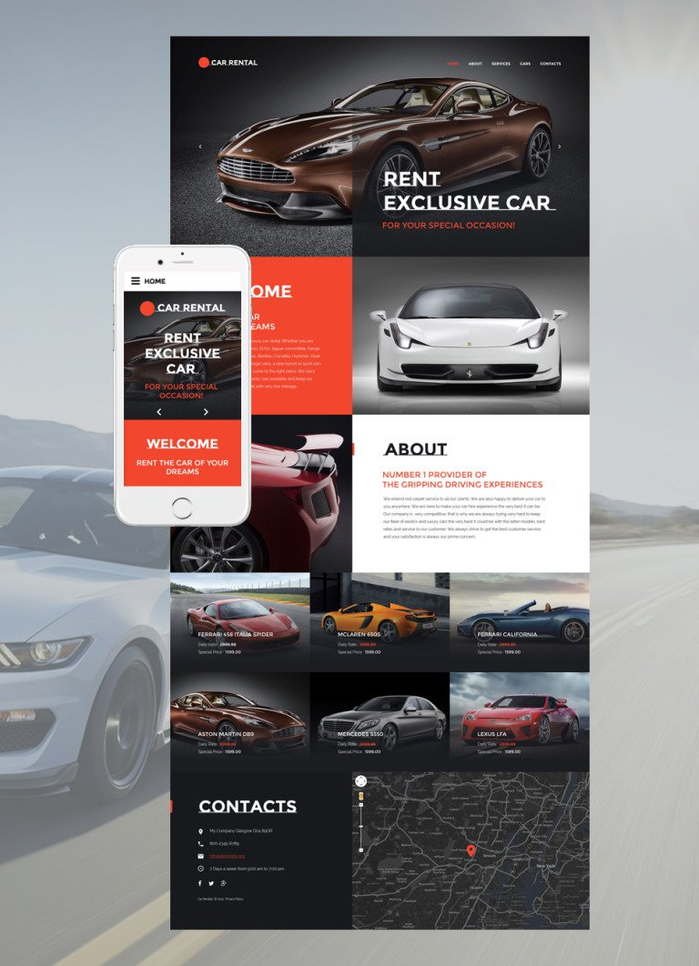 Car Rental Website Template New Screenshots BIG