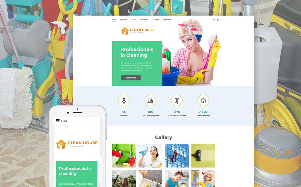 Cleaning Company Joomla Template New Screenshots BIG