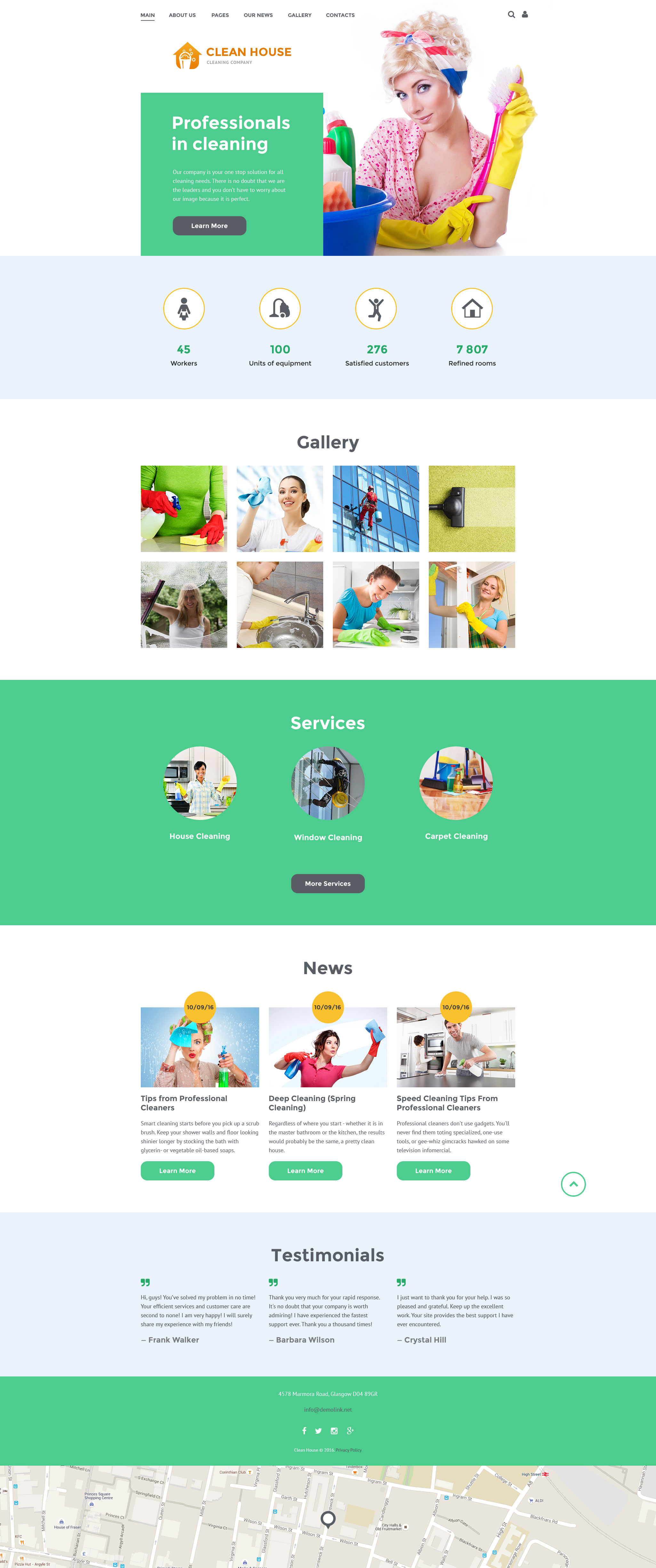 """""""Cleaning Company"""" Responsive Joomla Template №57695"""