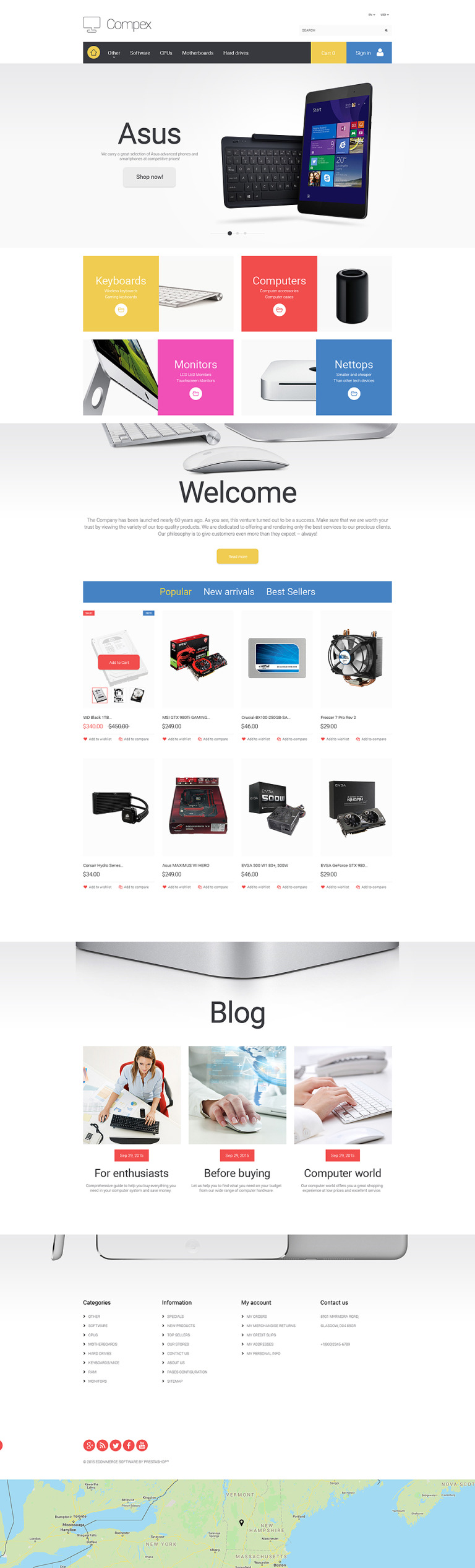 Compex PrestaShop Theme New Screenshots BIG