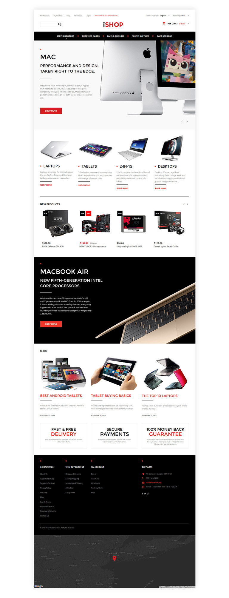 Computer Hardware Magento Theme New Screenshots BIG