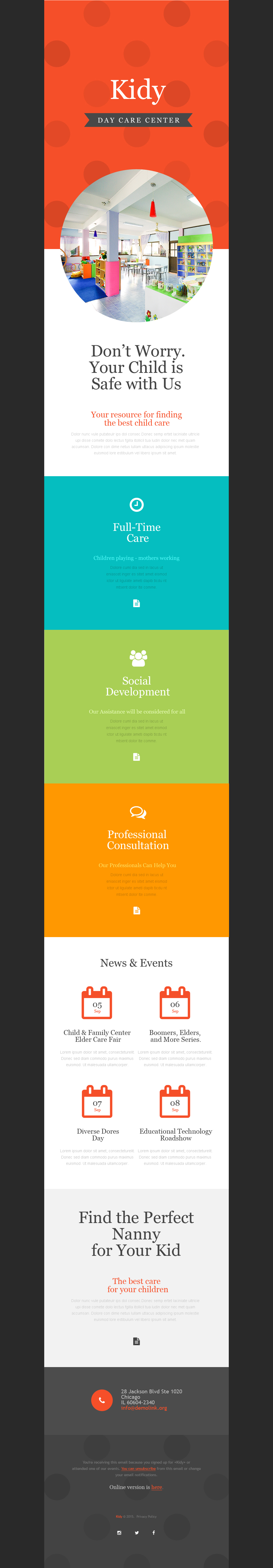 Day Care Responsive Newsletter Template
