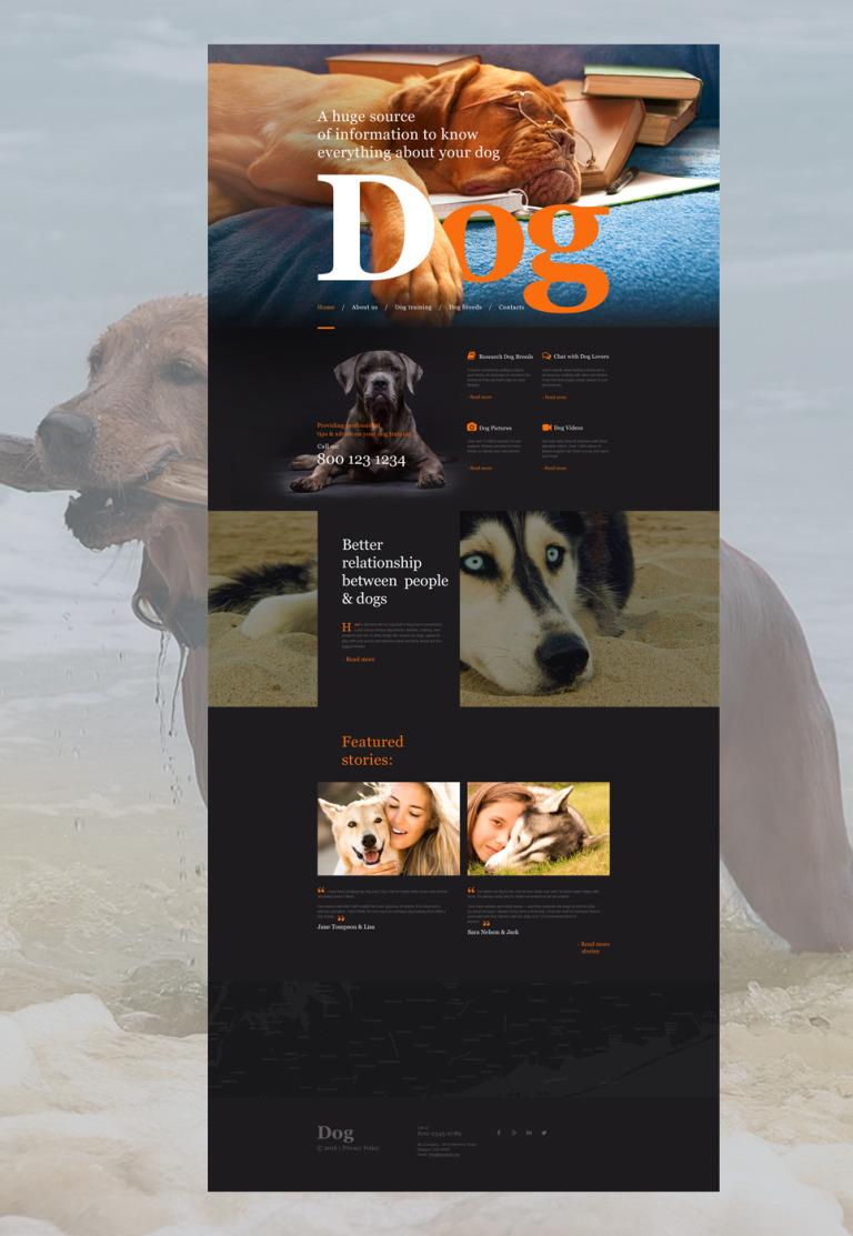Dog Muse Template New Screenshots BIG
