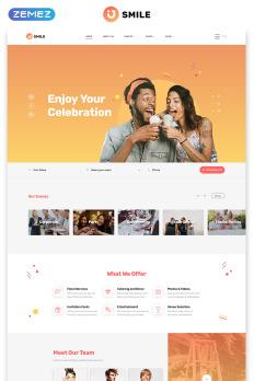 event planning website templates