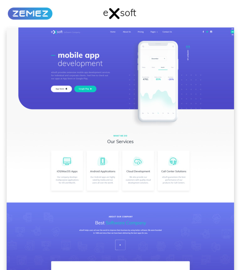 gadget multipage html theme