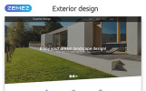"""Exterior Design - Landscape Responsive Modern HTML"" modèle web adaptatif"