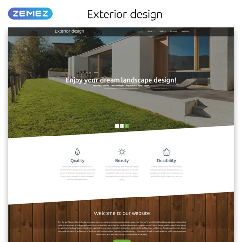 Exterior Design - Website Template based on Bootstrap