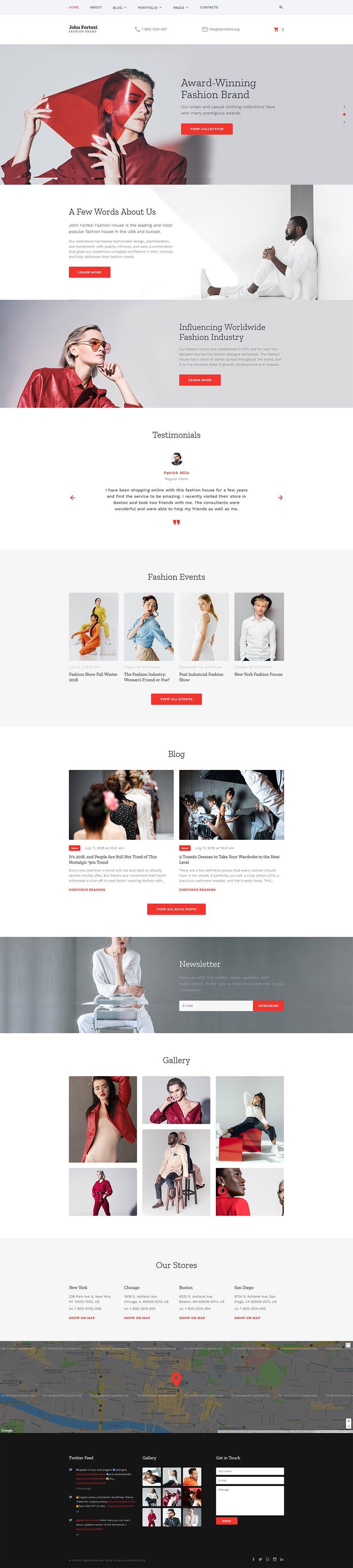 Fashion Responsive Website Template 57697