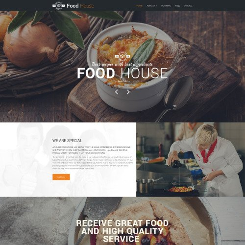 Food House - Responsive Drupal Template