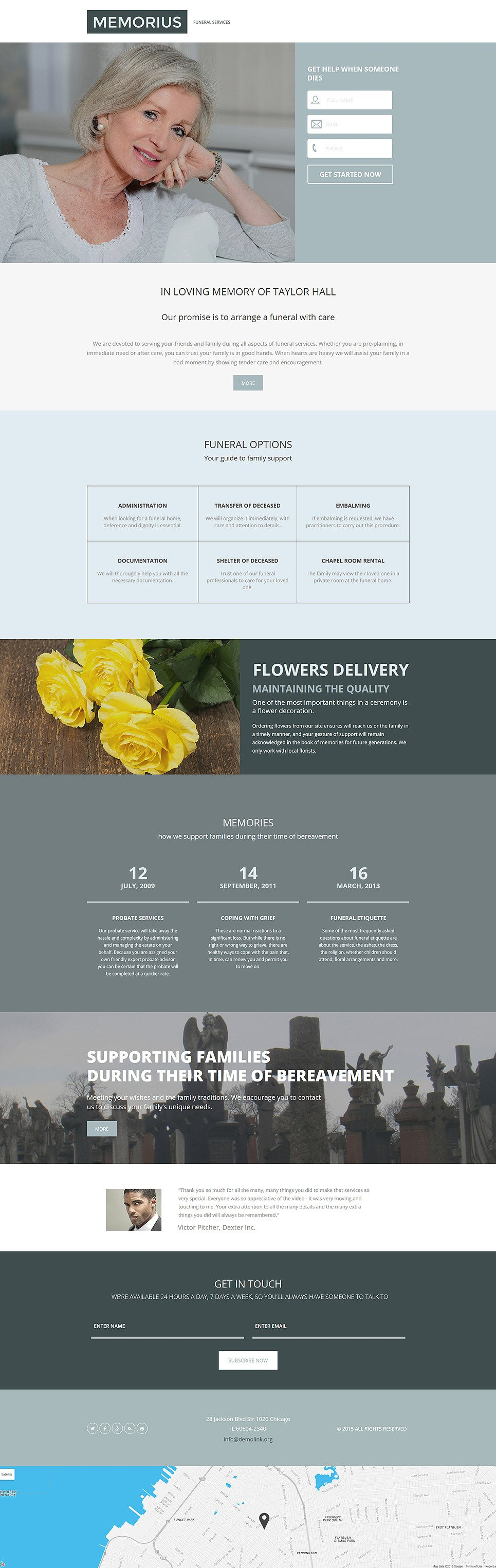Funeral Services Responsive Landing Page Template New Screenshots BIG
