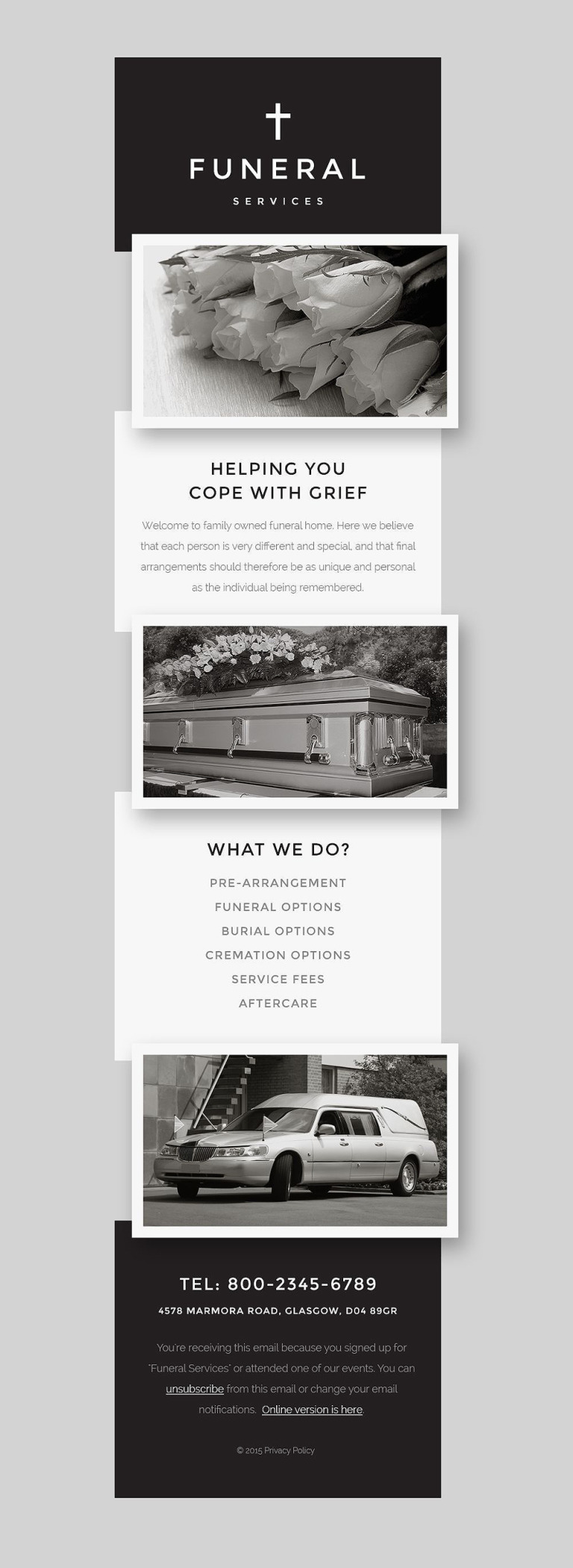 Funeral Services Responsive Newsletter Template New Screenshots BIG
