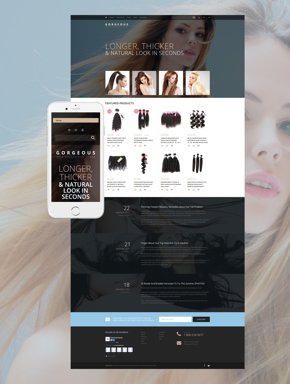 Hair Extensions WooCommerce Theme New Screenshots BIG