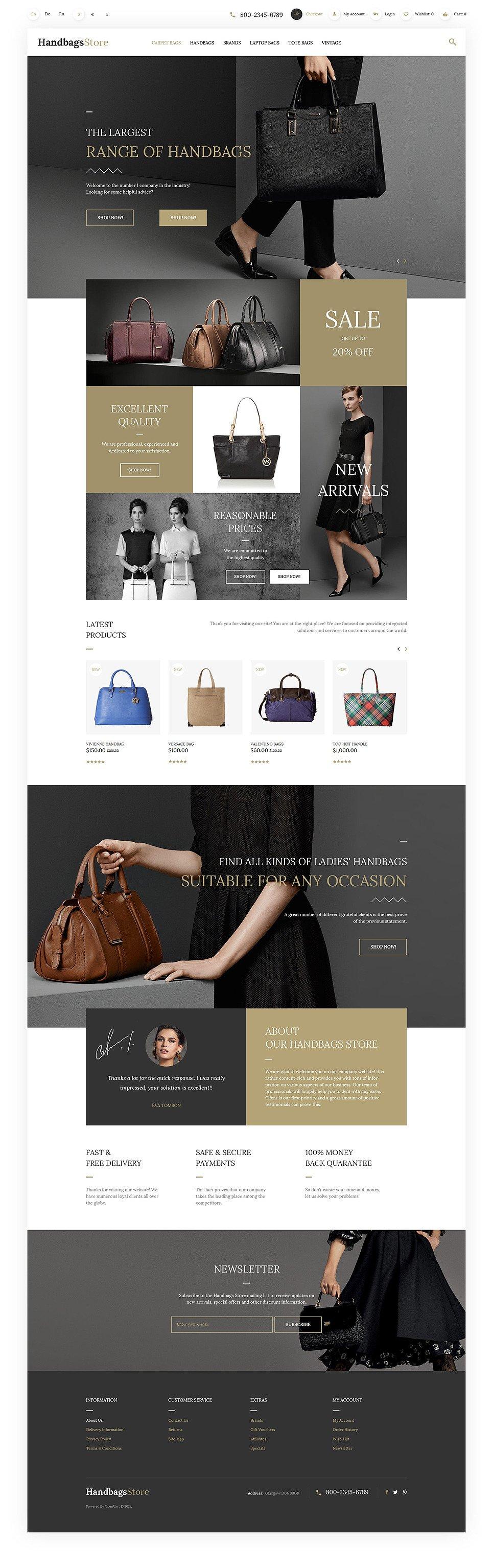 Handbags OpenCart Template New Screenshots BIG