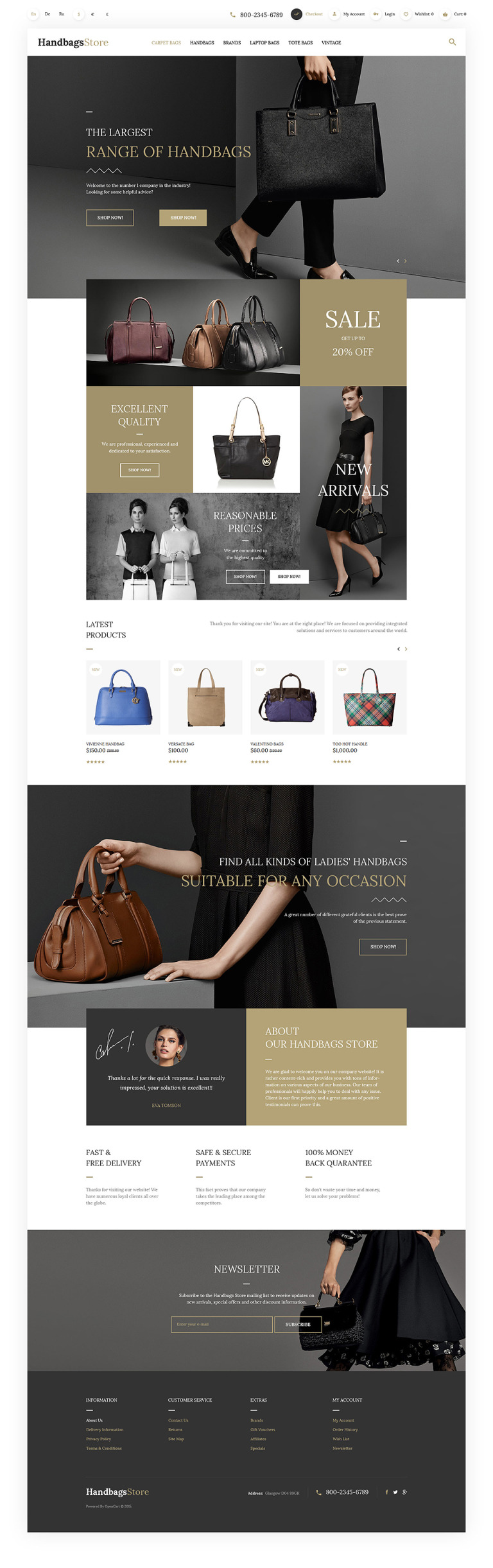 Handbags OpenCart Template New Screenshots BIG