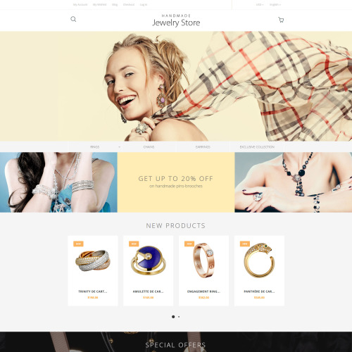 Handmade Jewelry Store - Magento Template based on Bootstrap