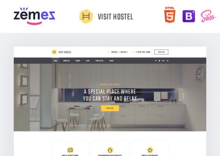 Hostel - Travel Multipage HTML5