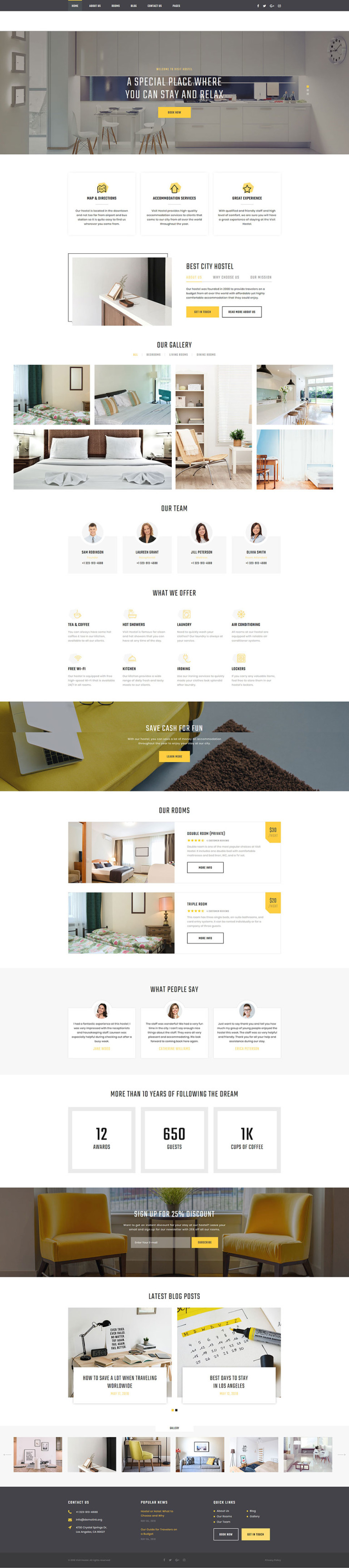 Hostel Website Template New Screenshots BIG