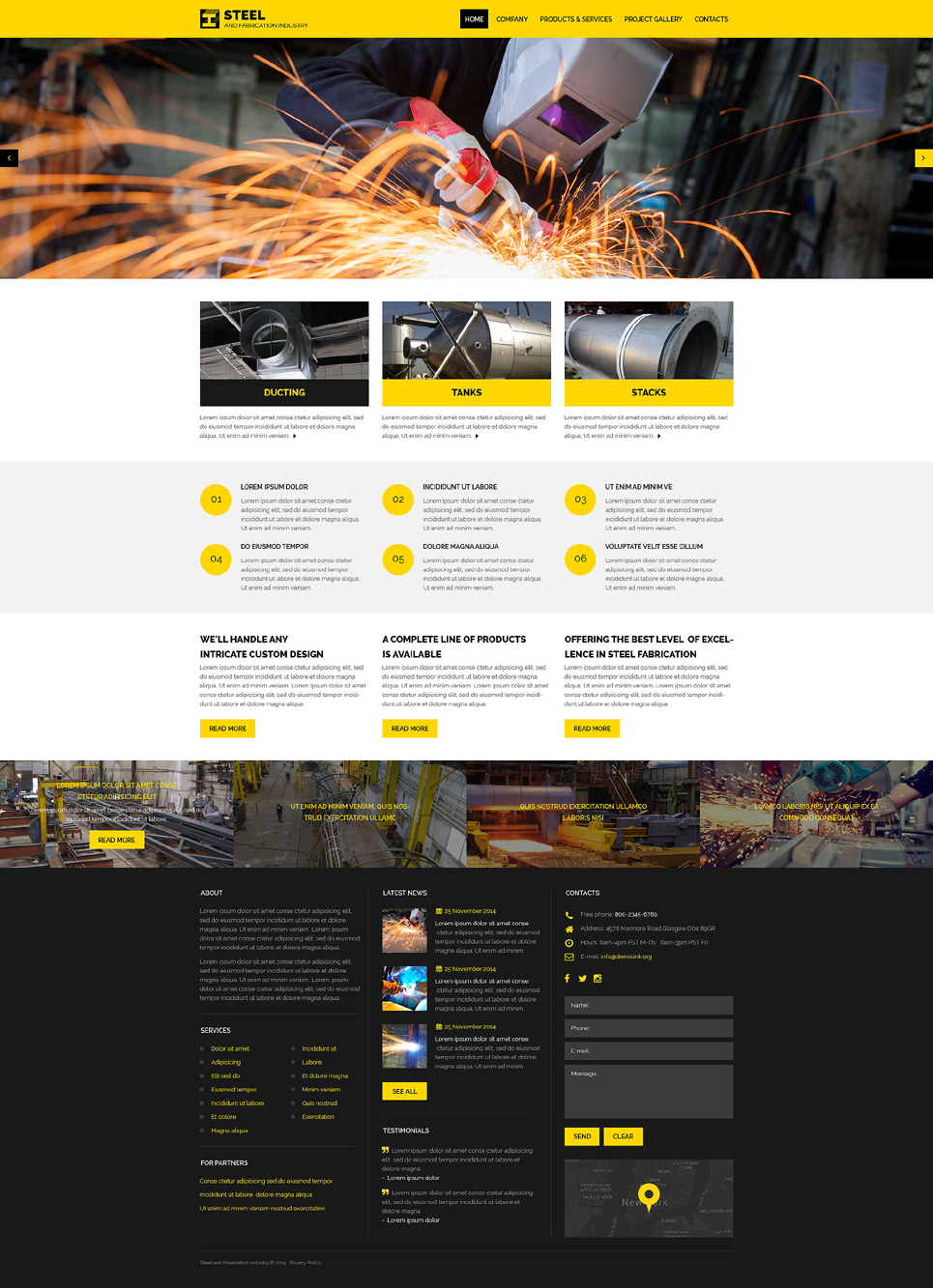 Build A Car >> Industrial Responsive Website Template #57623