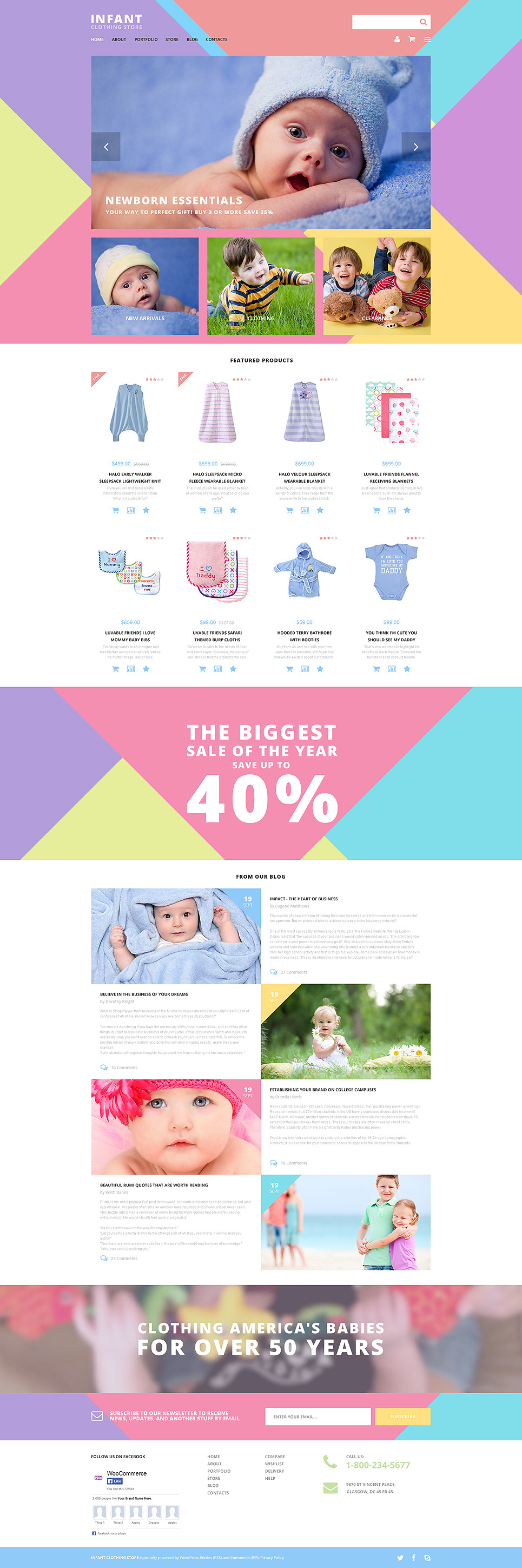 Infant Clothing Store WooCommerce Theme New Screenshots BIG