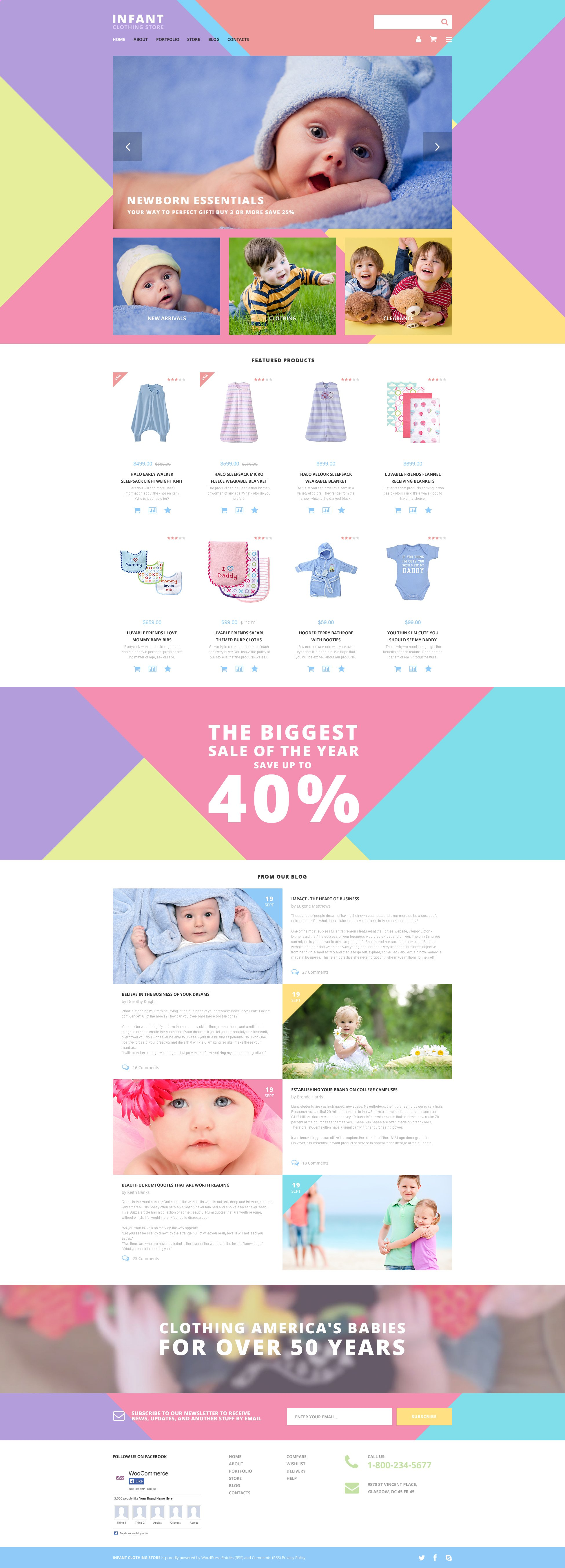 Infant Clothing Store WooCommerce Theme