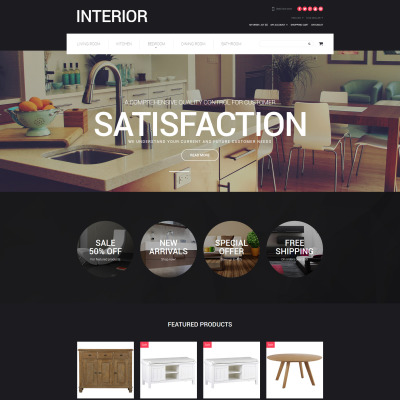 21 best opencart furniture themes opencart interior for Interior design business website