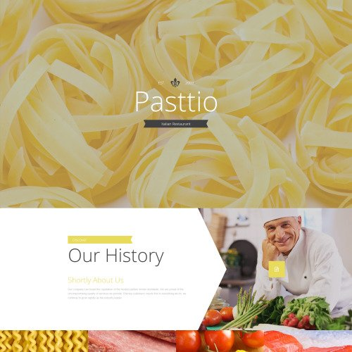Pasttio - Responsive Landing Page Template